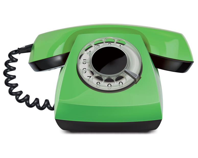 Telephone vintage, isolated. Vector Illustration